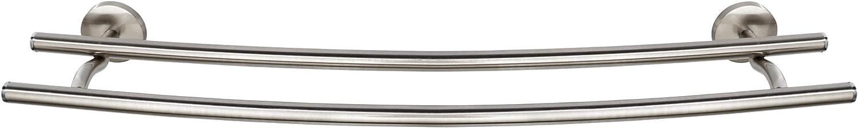 Wenko Porte-Serviettes Duo Cuba Double Barre Argent/é Mat 58 x 5 x 14 cm