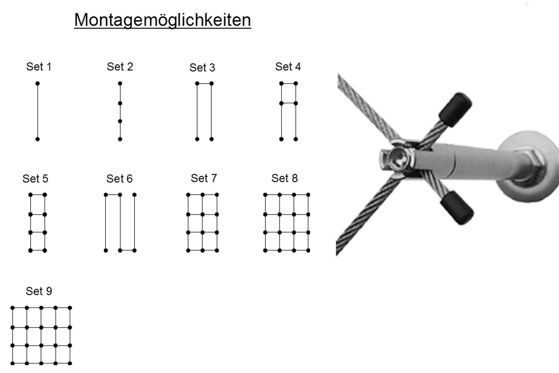 3 mm de diámetro acero inoxidable Cuerda, Rank ayuda 10 - Set 5 ...