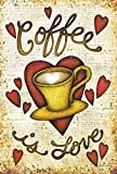 Cheap Toland Home Garden Coffee is Love 28 x 40 Inch Decorative Morning Joe Drink Cup Heart House Flag