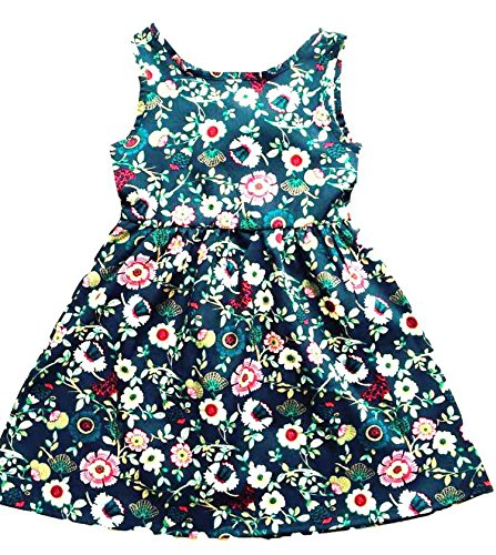 Perfectme Children Clothing Baby Girl Dress Clothes Floral Print Girls Dress Summer Costume Casual Clothes,Flower,5 ()