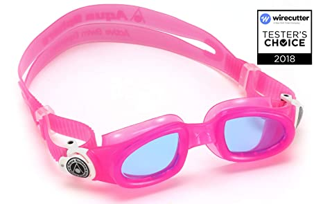 c47b4ce98536 Buy Aqua Sphere Moby Junior Swim Goggles with Blue Lens (Pink White ...