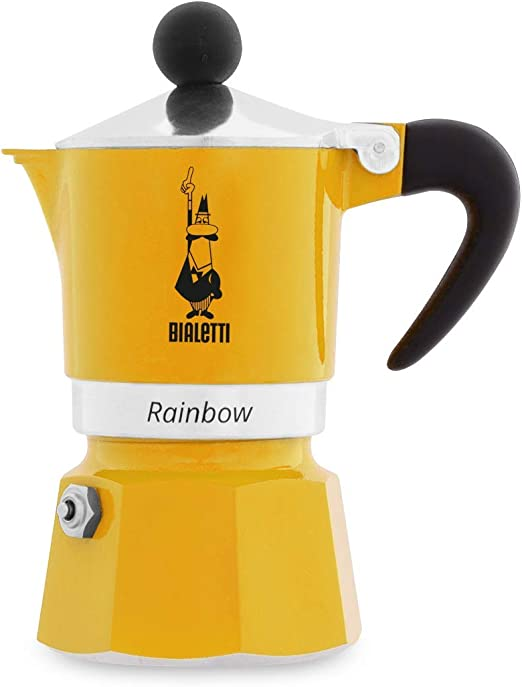 Bialetti Rainbow Cafetera Italiana Espresso, 1 taza, Aluminio ...