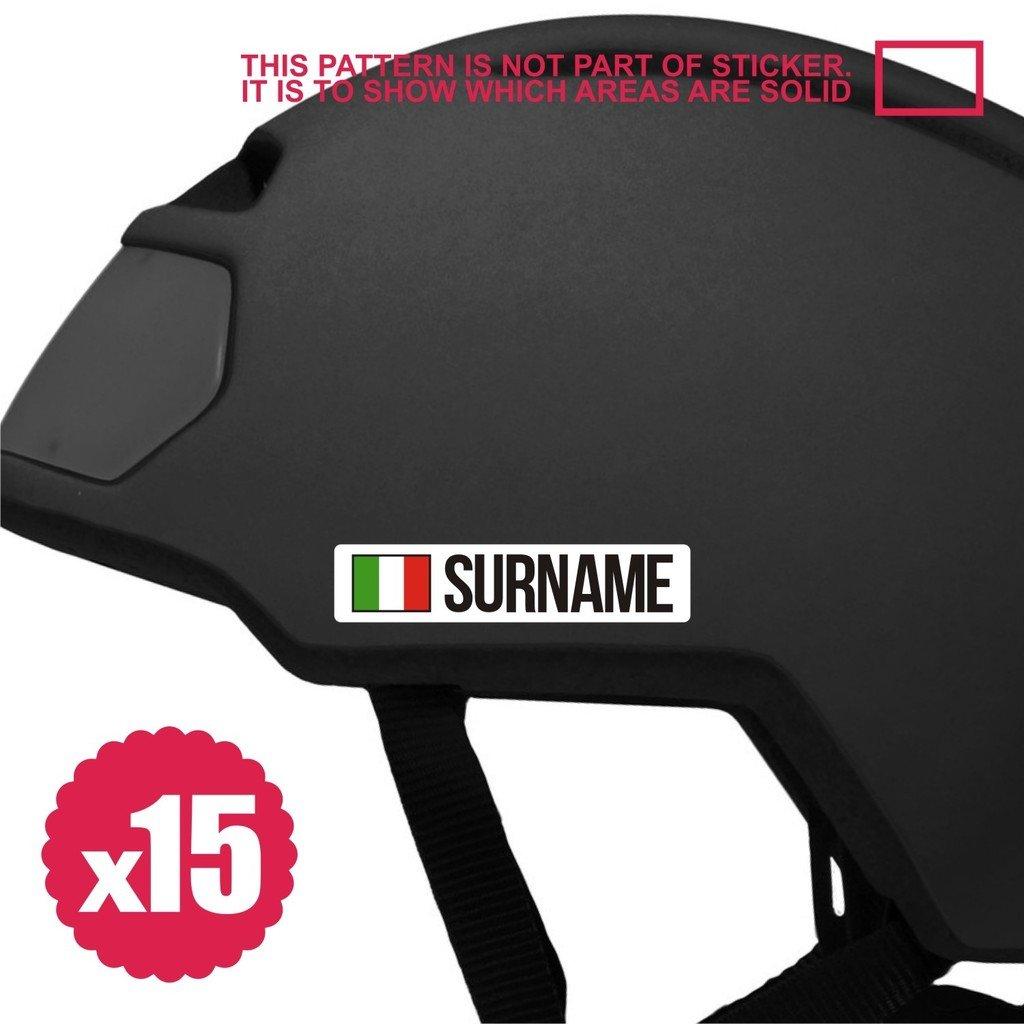 Bike stickers name 15x mini bicycle frame sticker decal helmet custom flag personalized 80mm italy fixie mtb bmx touring cruiser tandem amazon ca sports