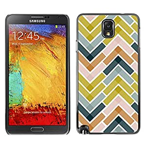 LASTONE PHONE CASE / Slim Protector Hard Shell Cover Case for Samsung Note 3 N9000 N9002 N9005 / Cool Tiles Green Navy Blue Pattern