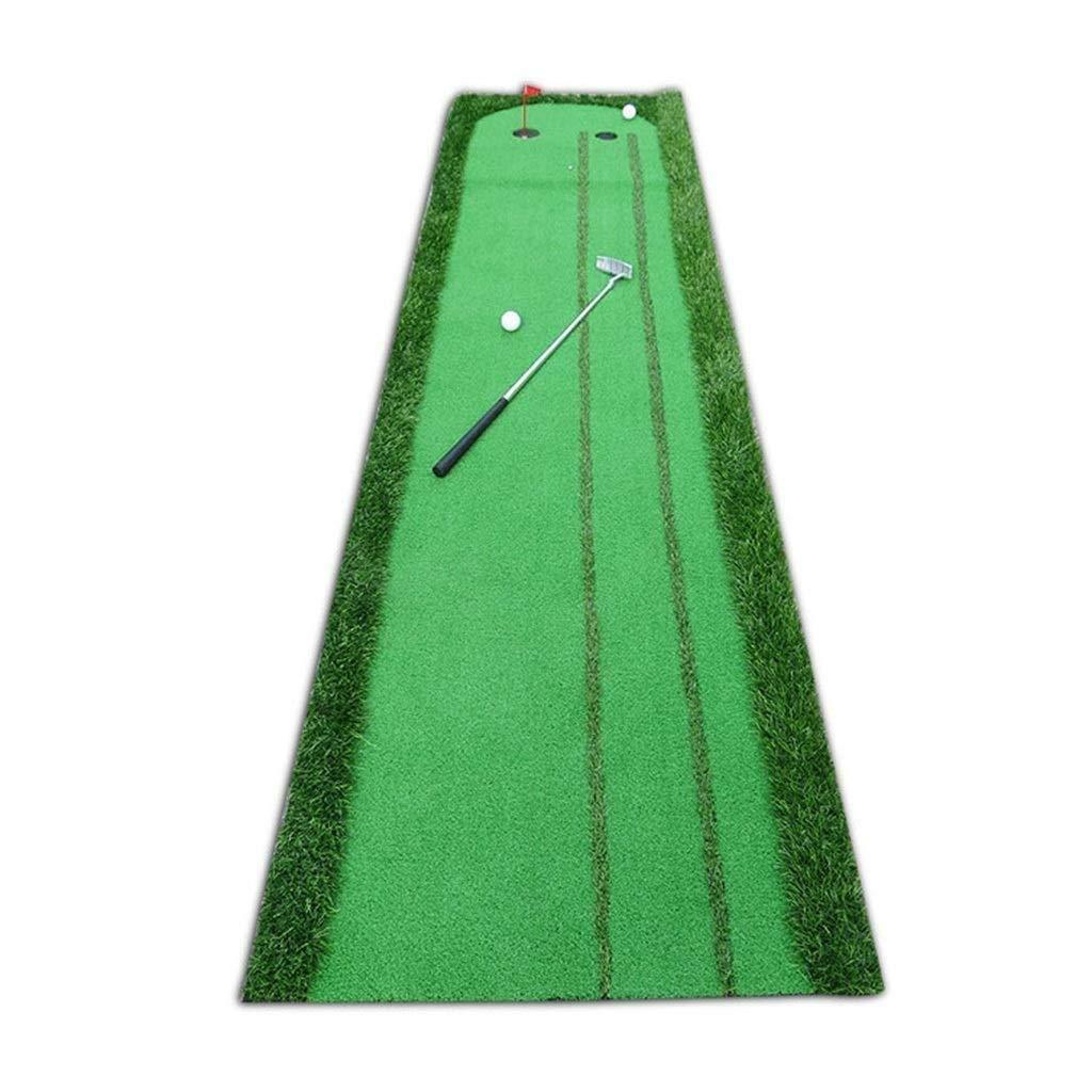 屋内屋外ゴルフセットボールオートリターンハザードパッティングマット、プロのポータブル練習ミニゴルフトレーナーパッティンググリーンブランケット(サイズ:75 * 300 * 5 cm)   B07PSNSDNJ