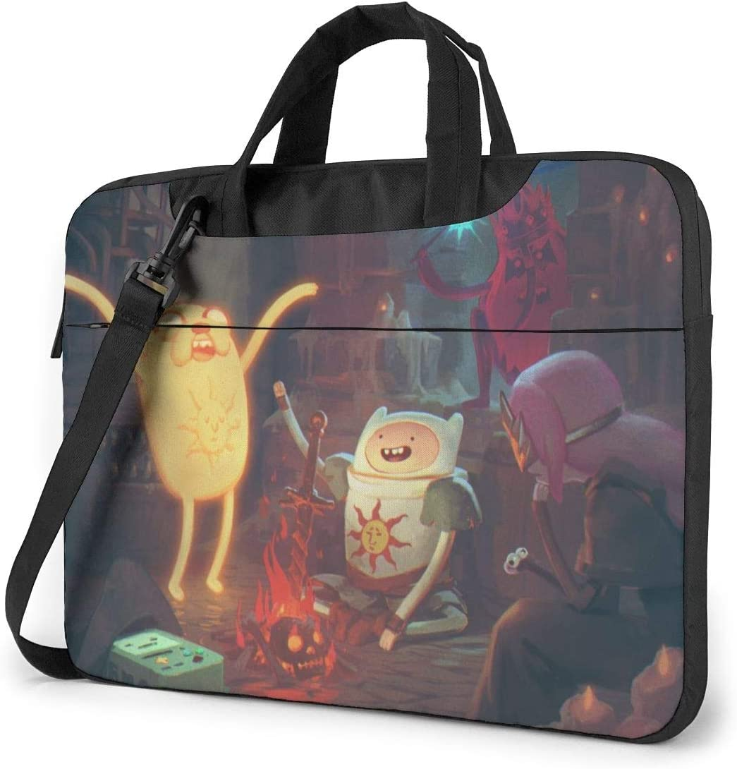 Laptop Sleeve Bag Adventure Time Finn Jak Tablet Briefcase Ultraportable Protective Canvas for 15.6 Inch MacBook Pro//MacBook Air//Notebook Computer