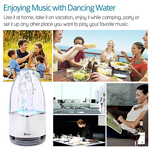 Svance Dancing Water Speaker Portable Wireless Bluetooth Speakers Powerful Stereo Sound and LED Light Show Music Fountain with 3 Play Modes for iPhone, iPad, Laptops, Smartphone by Svance (Image #6)