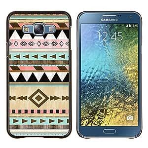 LECELL--Funda protectora / Cubierta / Piel For Samsung Galaxy E7 E700 -- Modelo tribal Dibujo Arte --