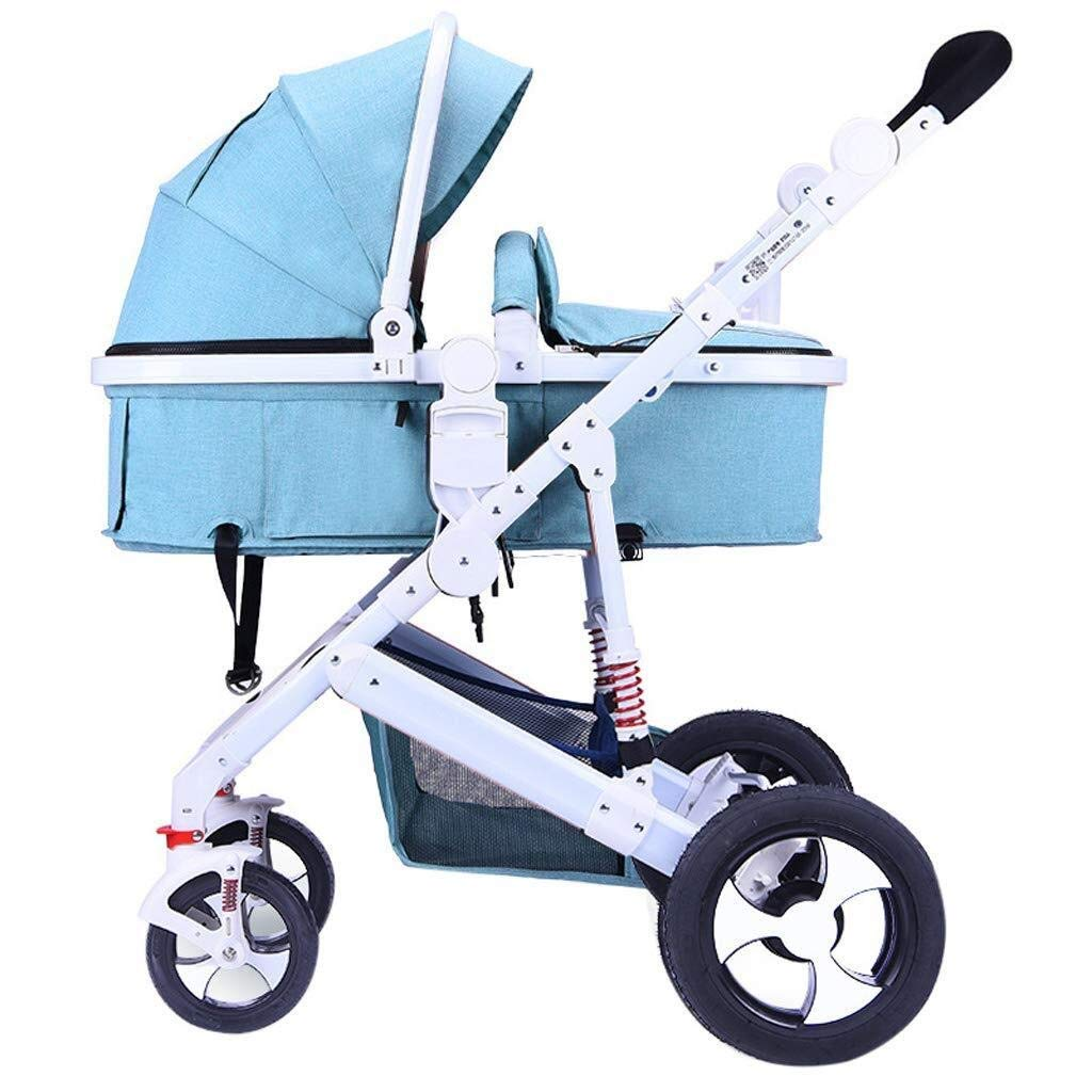 WDOPZMS Baby Stroller for Children - High Landscape Baby Stroller, Newborn Infant Pushchair Travel System Suitable from Birth to 36 Months - 37 90 90 cm (Color : B)