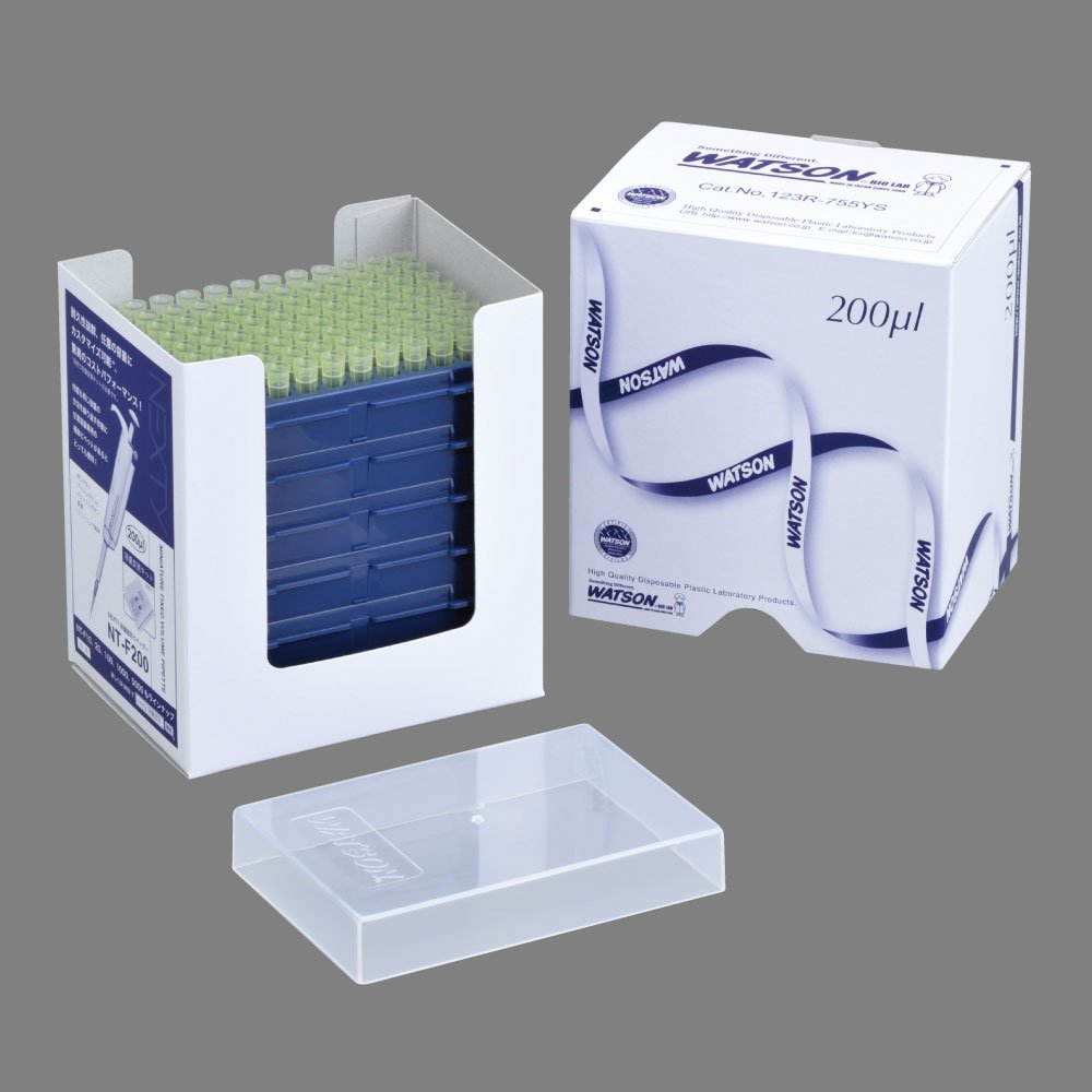 123R-755YS, 200ul, Standard Tip, Graduated, Yellow,ECO PACK Refill Stack, Sterilized, Total 10 box (96tips/plate, 5 plates/box), Made-in-Kobe/Japan