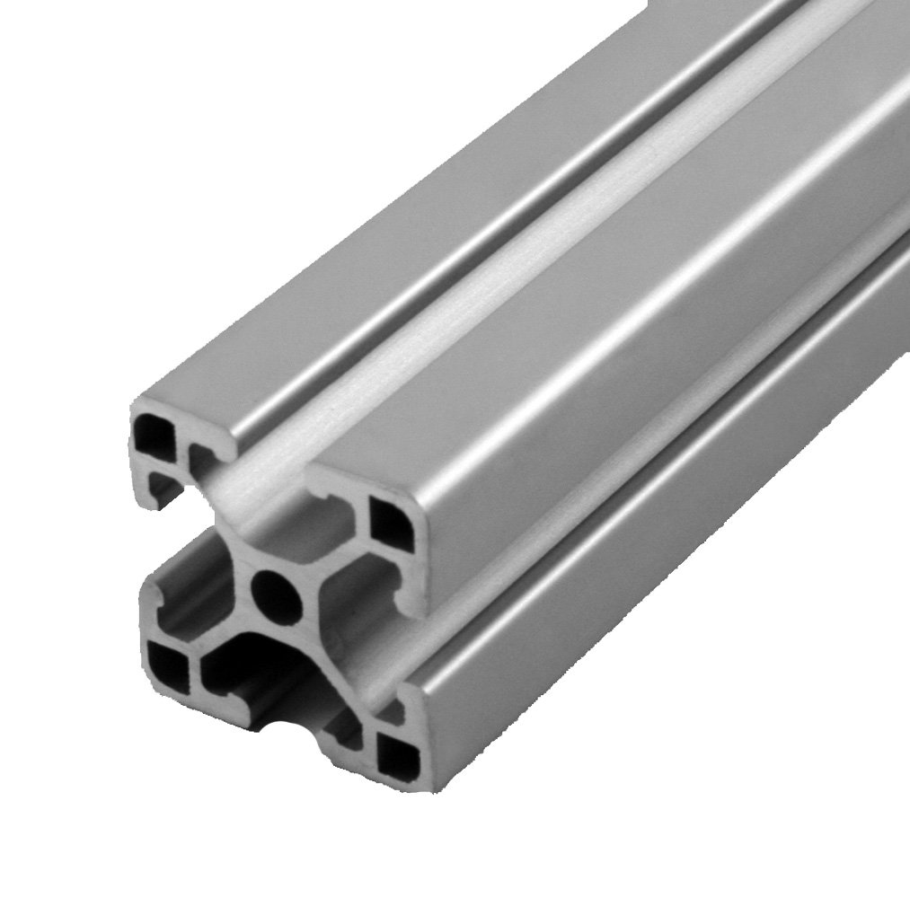 Faztek 15QE1515UL Aluminum 6063-16 T-Slotted Ultra Light Extrusion with Clear Anodize Finish, 72'' Length x 1-1/2'' Width x 1-1/2'' Height