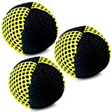 Speevers Xball Juggling/Joggling Balls Professional Set of 3. Fresh Design - 2 Layers of Net. PVC Carry Case. Pick Color, Size, Weight & Density. Choice of The World Champions! (90g Black - Yellow)