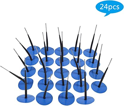 Cuque 24 Pcs Tire Repair Plug Patch Universal Car Motorcycle Rubber Puncture Repair Wired Mushroom Plug Tire Tyre Repair Tools Blue in Automobile Autobike Electric Vehicle Tire 36 * 4mm