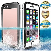 Waterproof iPhone 6/6s/6 Plus/6s Plus Case, EFFUN IP68 Certified Water/Dirt/Snow/Shockproof Case with Cell Phone Holder, PH Test Paper, Stylus Pen, Floating Strap Black/White/Pink/Aqua Blue/Light Blue