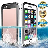 EFFUN Waterproof iPhone 6/6s Case, IP68 Certified Waterproof Underwater Cover Dirtproof Snowproof Shockproof Case with Cell Phone Holder, PH Test Paper, Stylus Pen and Inflatable Floating Strap White