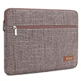 NIDOO 11 Inch Laptop Sleeve Case Water Resistant Portable Notebook Carrying Bag Pouch Computer Cover for 2017 New 12 inch MacBook / New 12.3'' Microsoft Surface Pro / 11.6'' MacBook Air, Rosybrown