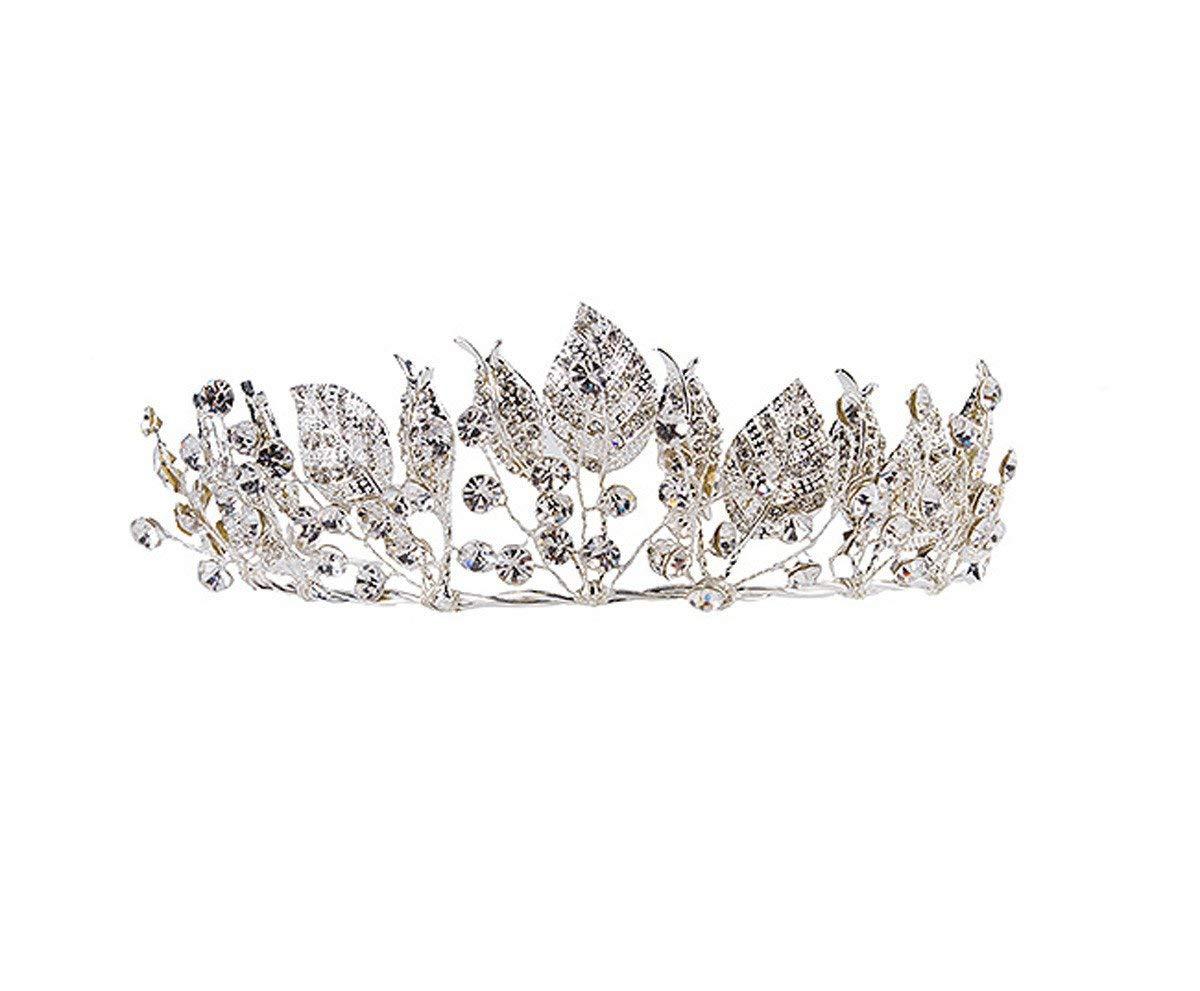 Crystal Crown, Bridal Headwear Wedding Accessories Leaves Crowns Wedding Dress Accessories Water Drill