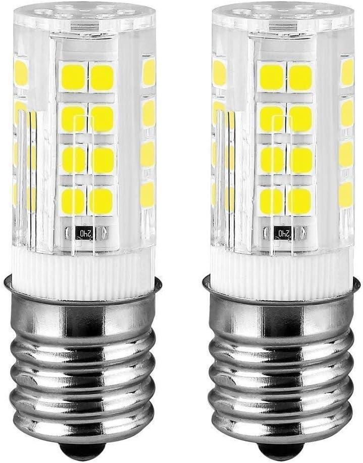 E17 LED Microwave Oven Stove Bulb, 40W Incandescent Equivalent, AC 110V-130V, Daylight White Appliance Bulb (6000K, 2-Pack)