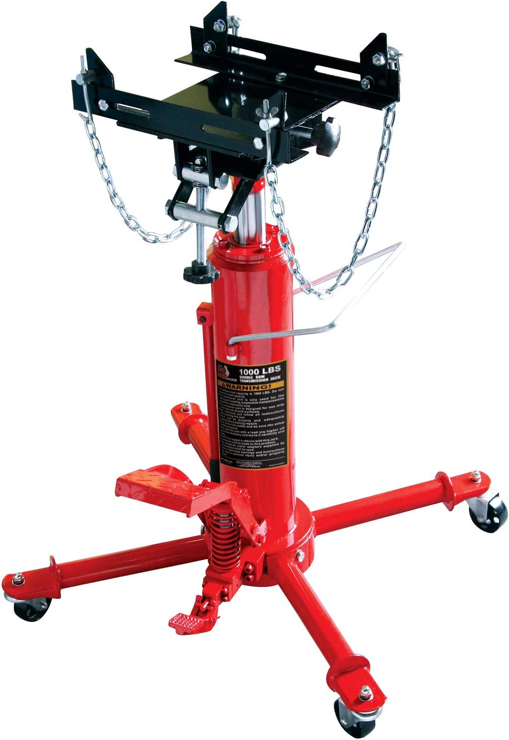 Torin Big Red Hydraulic Transmission Floor Jack Capacity 1 Ton 2,000 lb
