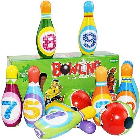 Bolos Infantiles Sets de Bolos Juguete Bowling Juegos Exterior Jardin Juego de Bolos Padres e Hijos para Disfrutar de Juguetes para bebés Niños y niñas: Amazon.es: Deportes y aire libre