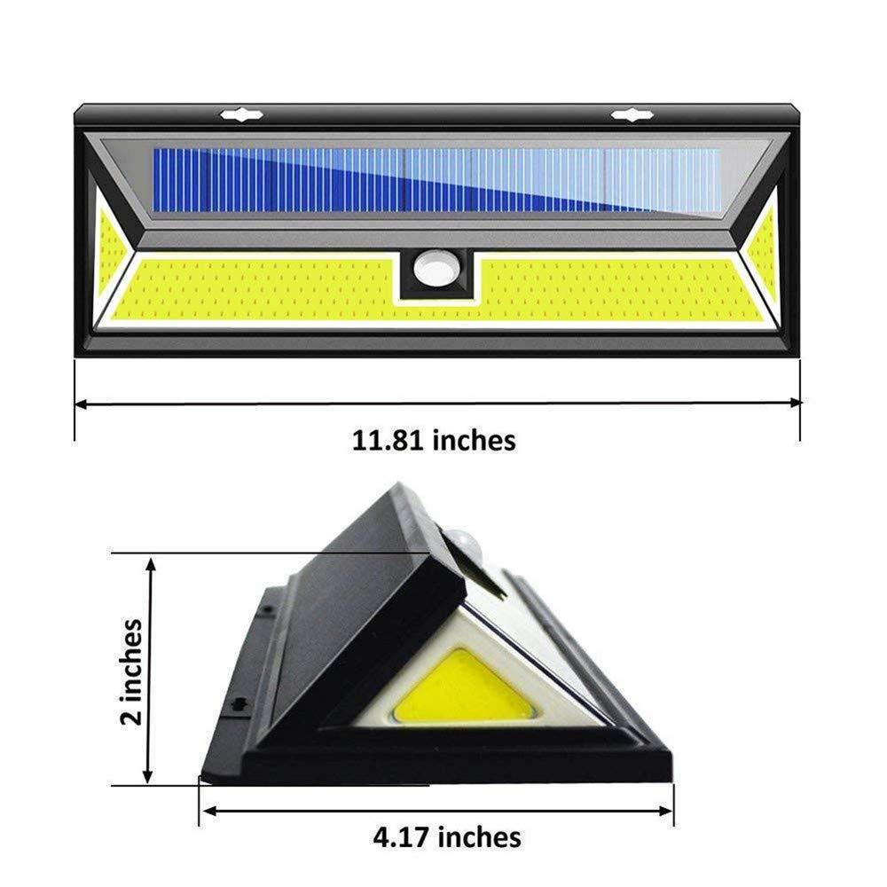 Solar Lights Outdoor, Businda Aluminum Alloy 120° Infrared Solar Lights Wireless Motion Sensor Outdoor Light Waterproof IP65 Security Lights for Front Door, Yard, Garage, Deck by Businda (Image #9)
