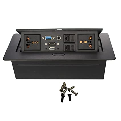 Amazoncom Tabletop Power And Data Port Table Or Desk MiniPort - Conference table data ports hdmi