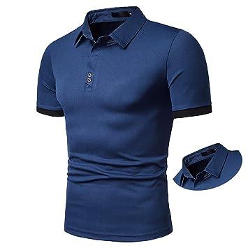 G&Armanis Shop Polo de Poliéster para Hombre, Camiseta de Solapa ...