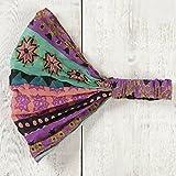 Natural Life Vagabond Gypsy Headband, Mint/Pink/Starburst