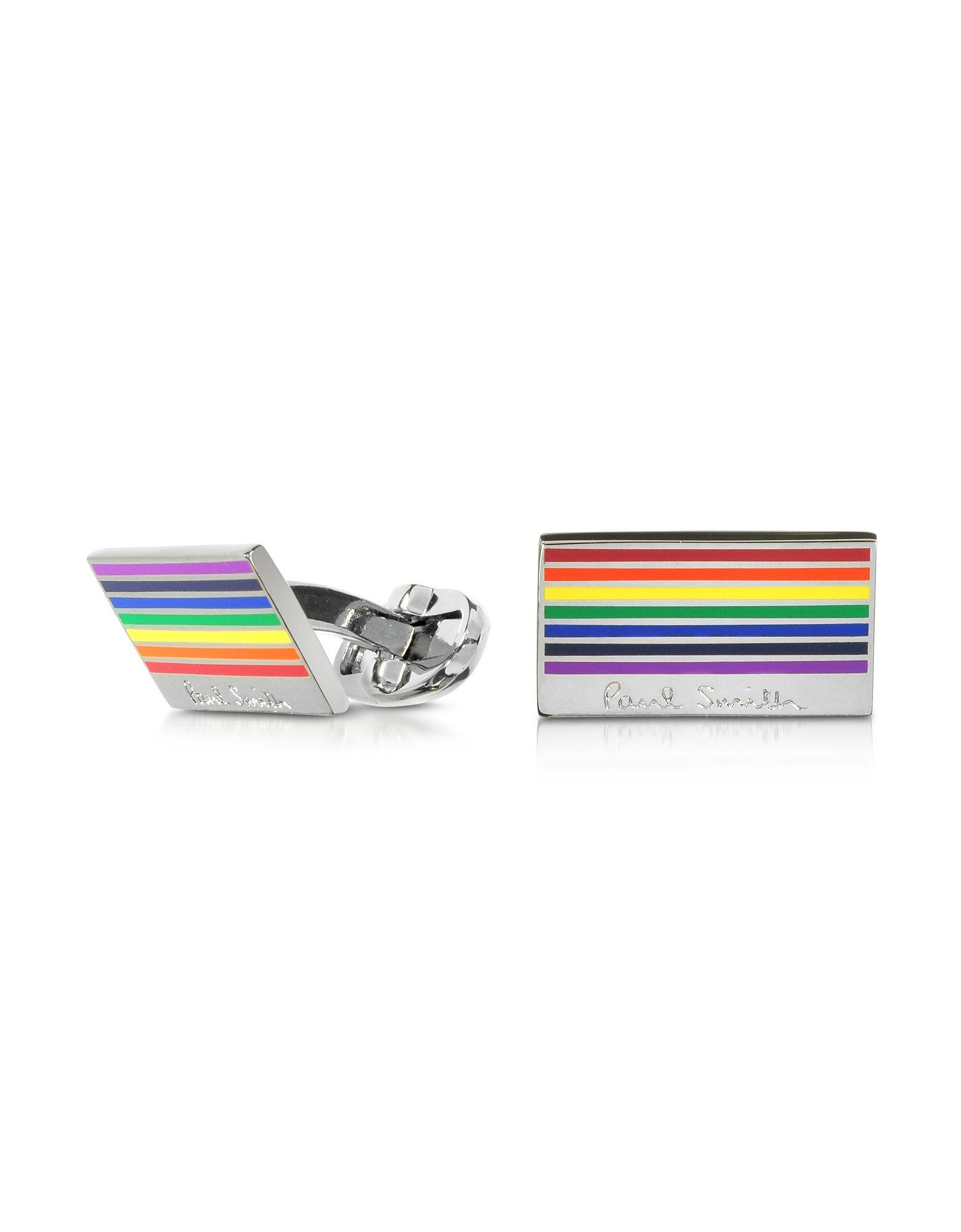 Paul Smith Men's Atxccuffrainb97 Multicolor Metal Cuff Links
