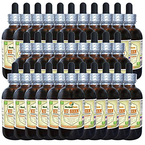 Ku Shen, Sophora (Sophora Flavescens) Tincture, Dried Root Liquid Extract (Brand Name: HerbalTerra, Proudly Made in USA) 30x2 fl.oz (30x60 ml)