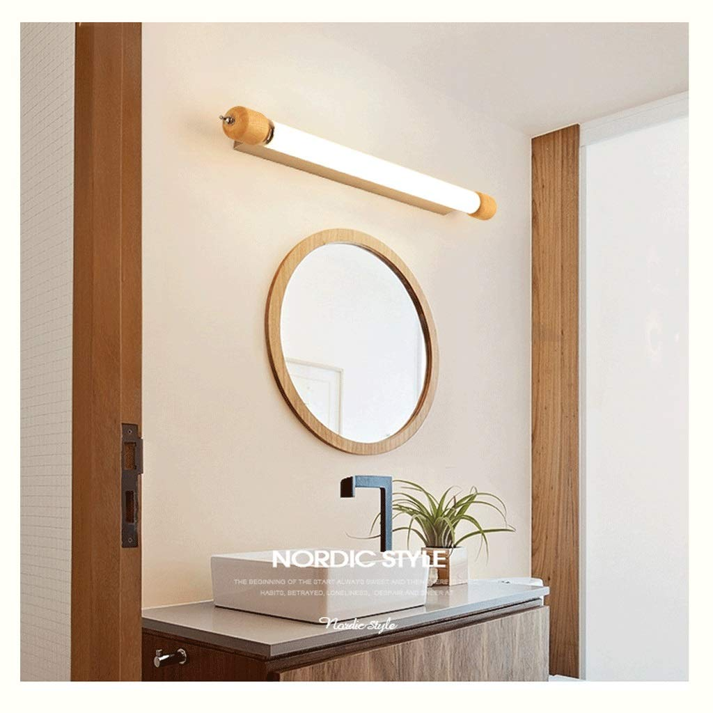 WB_L Picture Display Lighting Two-Color dimming Bath Mirror Lamps GU10 Wall Double Head Creative Glass Bathroom Lamp Bathroom Lighting Make-up Lamp Home Decorative Lighting (Size : 53cm)