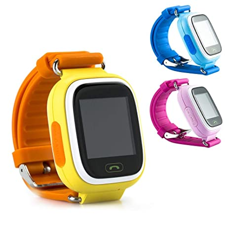 YTYCJSFH Q90 - Reloj Inteligente para niños con GPS y rastreador de Llamadas (Color Negro