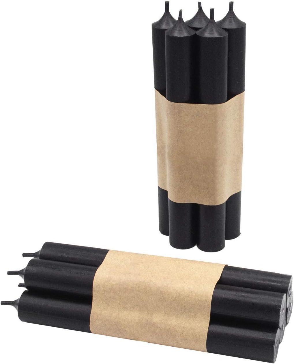 L18 cm Schwarze Stabkerzen Wandler by Infinity Boxes Kerzen-Set 10-TLG /Ø 2,2 cm ca
