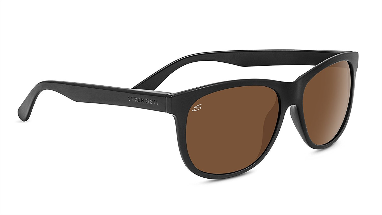 Serengeti 8359 Ostuni Polarized Drivers Sunglasses, Shiny Black by Serengeti