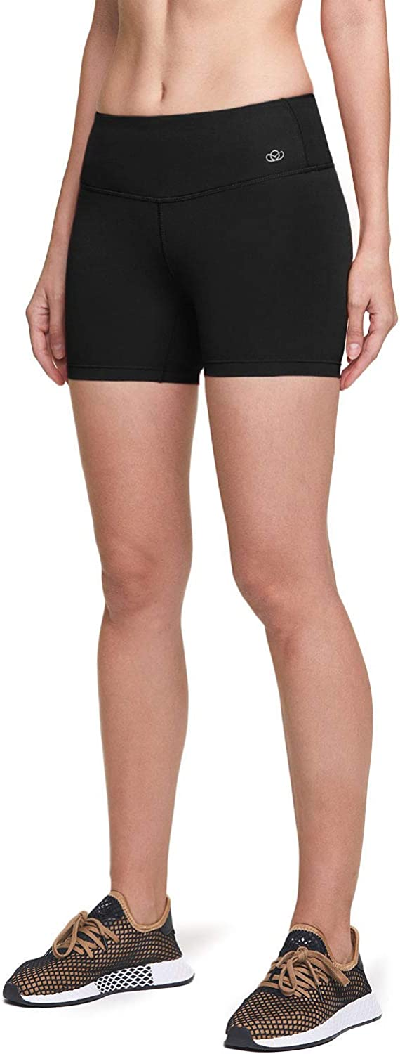 ATIKA 1 or 2 Pack Womens High Waist Bike Shorts Athletic Stretch Exercise Shorts Workout Running Yoga Shorts with Pocket