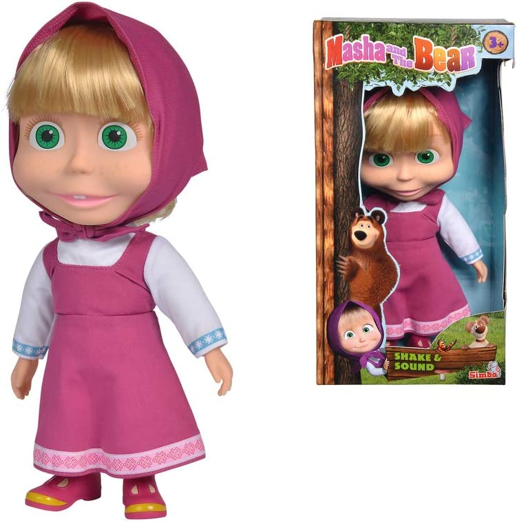Masha and the Bear Shake and Sound Doll Toys for Kids, Ages 3+ (109301074)