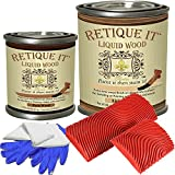 Retique It - Liquid Wood - Pint Graining Tool Kit - Light/Dark - Put a Finished Wood Finish on Any Surface - Paint it Then Stain it - Made Out of Real Wood - (Pt Graining Tool Kit - Light/Dark)
