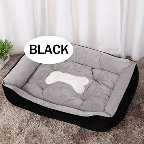 mingyimingshangmao Soft Fleece Pet Dog Bed Cojín Bone Print ...