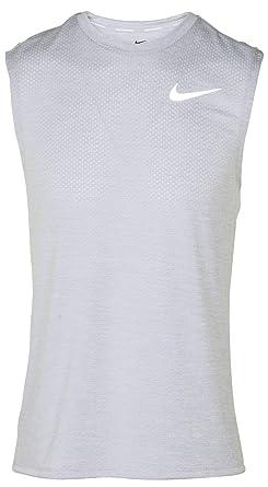 1fdee5fc7f636 Amazon.com  Nike Mens Dri-Fit Breathe Miler Sleeveless Running Shirt ...