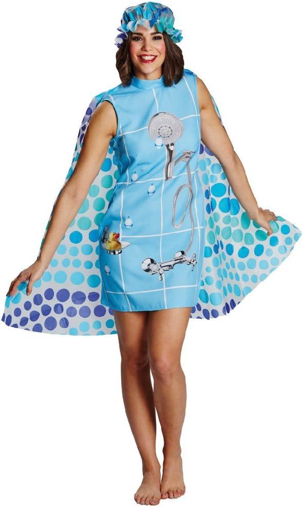 Disfraz de carnaval de ducha, vestido con capa y gorro de ducha ...