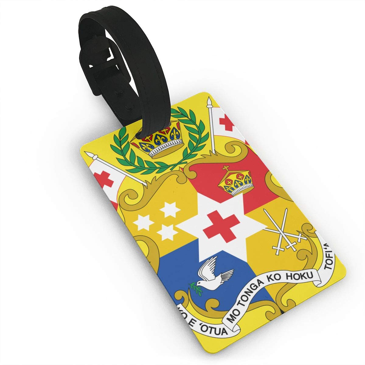 KODW12 Coat of Arms of Tonga Luggage Tag Travel Bag Labels Suitcase Bag Tag Name Address Cards