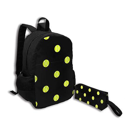 97429fd7e0e4 Amazon.com - Oswz Tennis Ball Dot Black Travel Backpack Insulated ...
