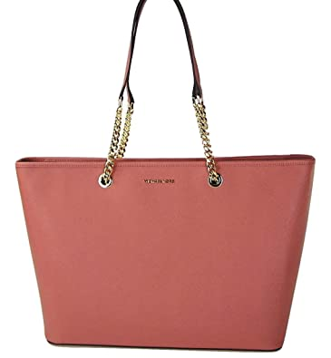 7ff6f3faa2d1 Amazon.com: MICHAEL Michael Kors Jet Set Travel Chain Medium Saffiano  Leather Tote in Antique Rose: Shoes