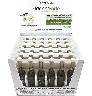 NUEVO ENVASE: Tratamiento Anticaída PlacentForte Placenta y Vitaminas sesiomworld 36 ampollas