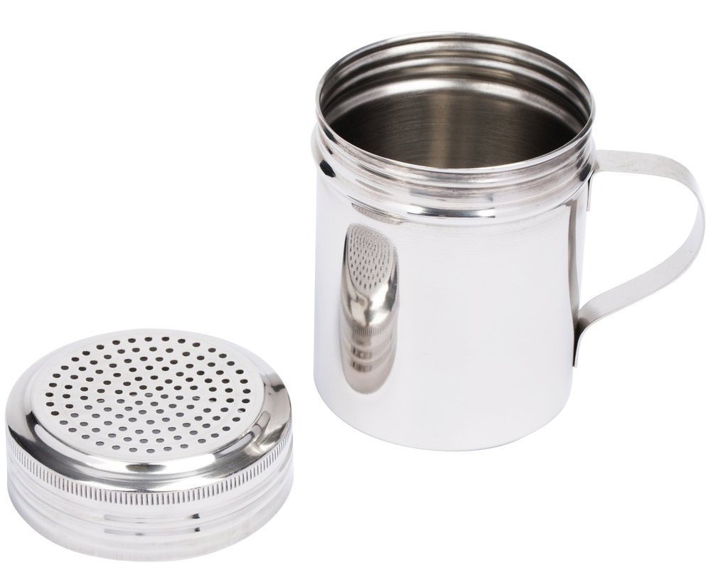(Set of 12) 10 Oz Stainless Steel Dredge Shaker with Handle, Spice Dispenser for Cooking/Baking by Tezzorio by Tezzorio (Image #5)
