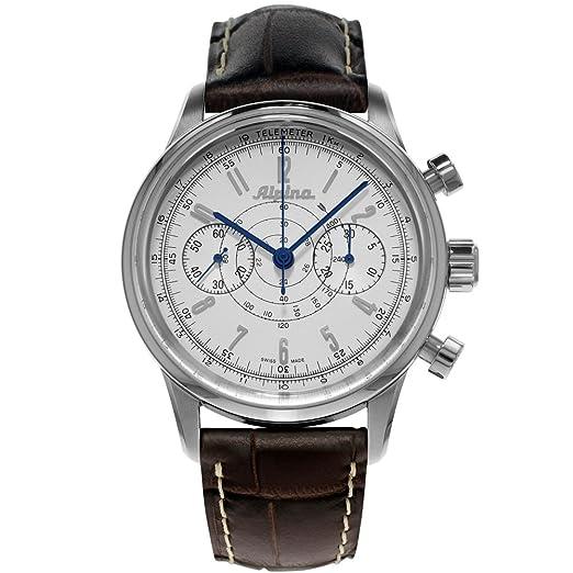 Alpina AL860S4H6 - Reloj, correa de cuero color marrón: Amazon.es: Relojes