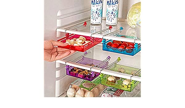 Jiali Jiali estante de almacenamiento ajustable para frigorífico o ...