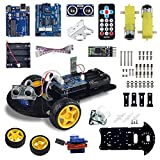 arduino motor shield kit - UCTRONICS Bluetooth Robot Car Kit for Arduino with UNO R3, HC-SR04 Ultrasonic Sensor, HC-05 Bluetooth Module, Infrared IR Wireless Remote Controller, L293D Motor Control Shield, Micro Servo Motor 9g