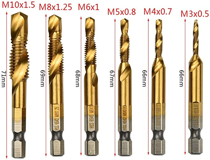 10pcs M0.9x0.225 Screw Tap Japanese Standard High Speed Steel Drill Bits for Bicycle Repair Machinery Manufacturing