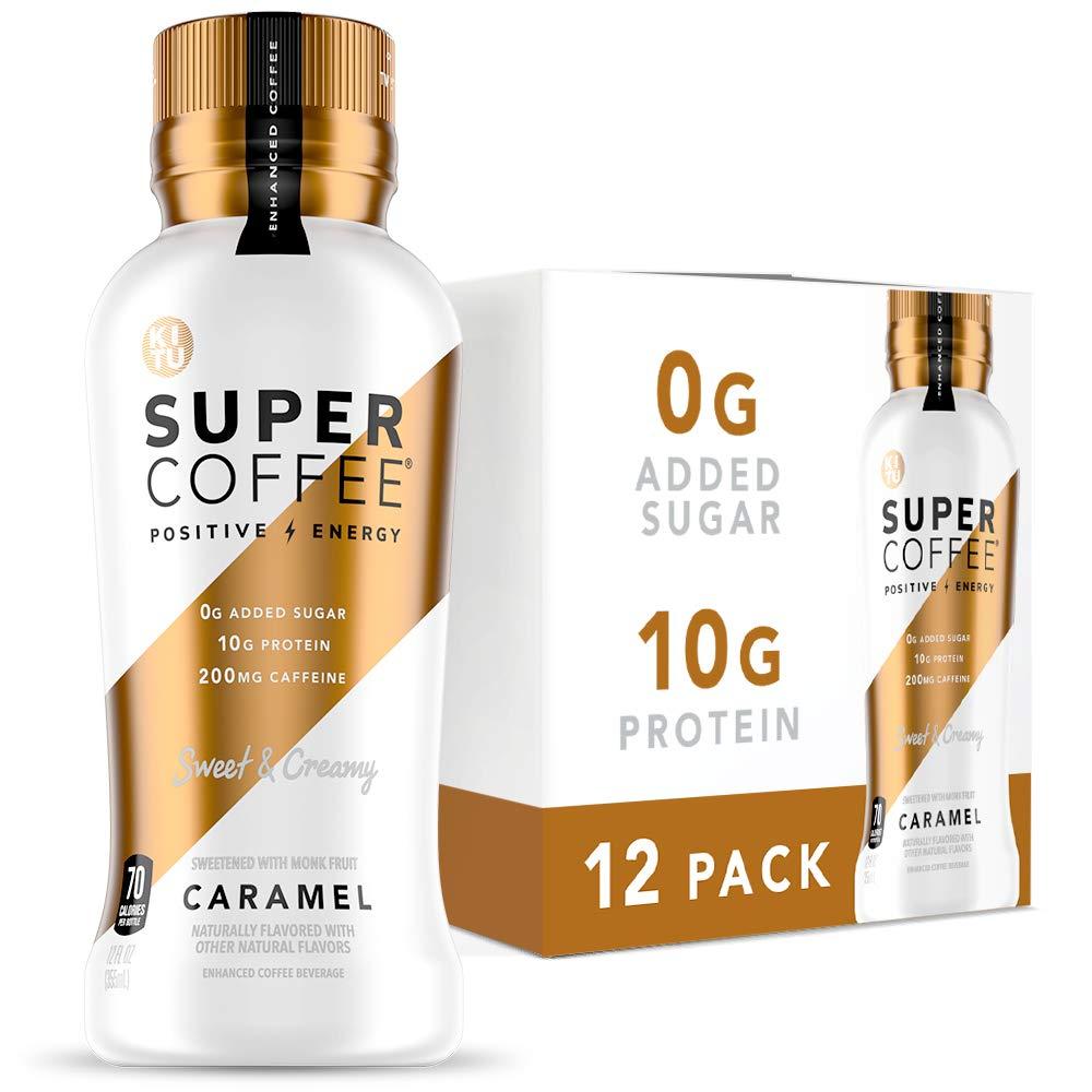 Kitu Super Coffee, Iced Keto Coffee (0g Added Sugar, 10g Protein, 70 Calories) [Caramel] 12 Fl Oz, 12 Pack | Iced Coffee, Protein Coffee, Coffee Drinks, Smart Coffee - SoyFree GlutenFree